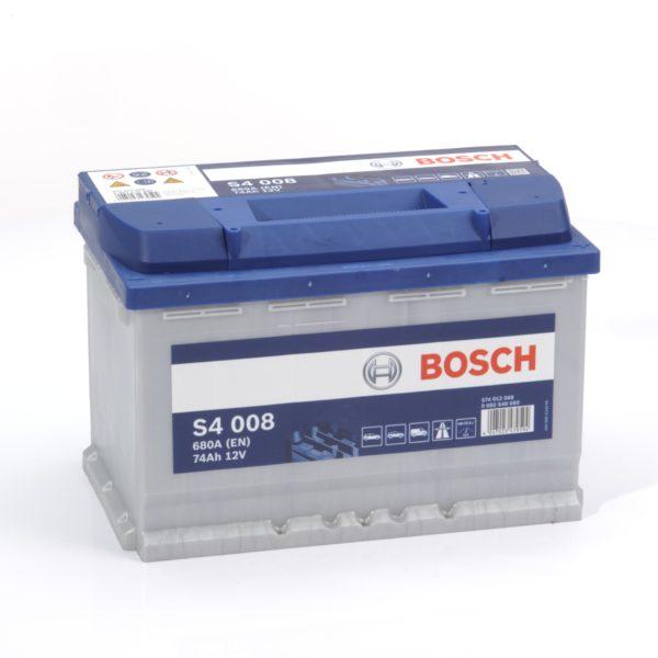 Автомобильный аккумулятор Bosch S4 Silver 74 Ач 630 А обратная пол. S4008 574012