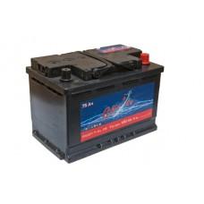 Автомобильный аккумулятор СИЛ°Ач 75 Ач 680 A об. пол.