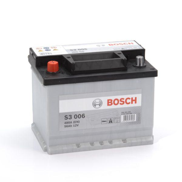 Автомобильный аккумулятор BOSСH S3 56 Ач 480 А прямая пол. S3006 556401