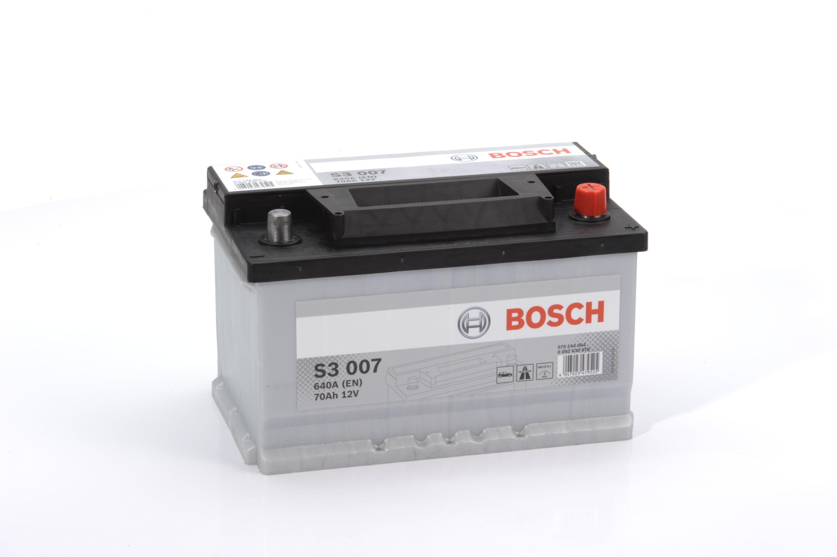 Авто аккумулятор BOSСH S3 70 Ач 640 А обратная пол. S3007 570144