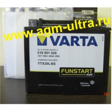 Мото аккумулятор Varta 12V 518 901 026-18Ач